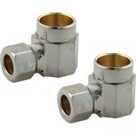 Compression fitting - Sweat reducing elbows