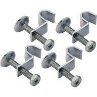Vanity basin hold down clamps