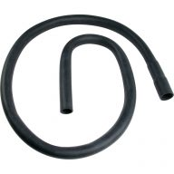 Washing machine discharge hose with hook