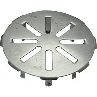Snap-in drain cover - 4""